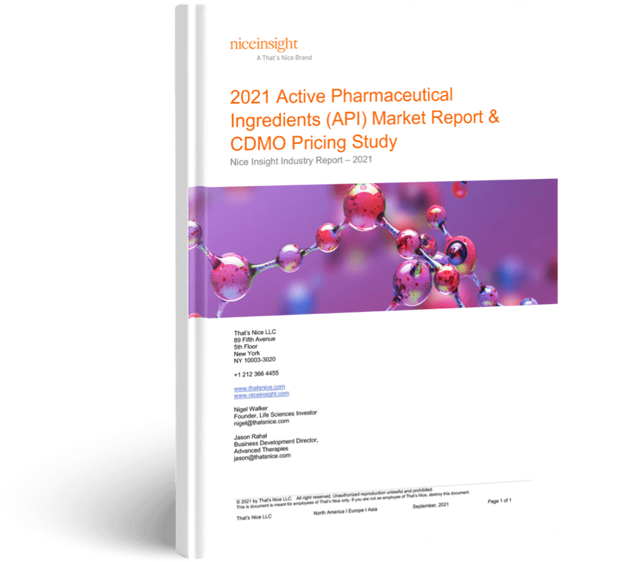 2021 Active Pharmaceutical Ingredient (API) Market Report & CDMO Pricing Study