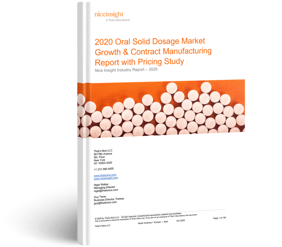 2020 OSD Market Growth & CDMO Report with Pricing Study