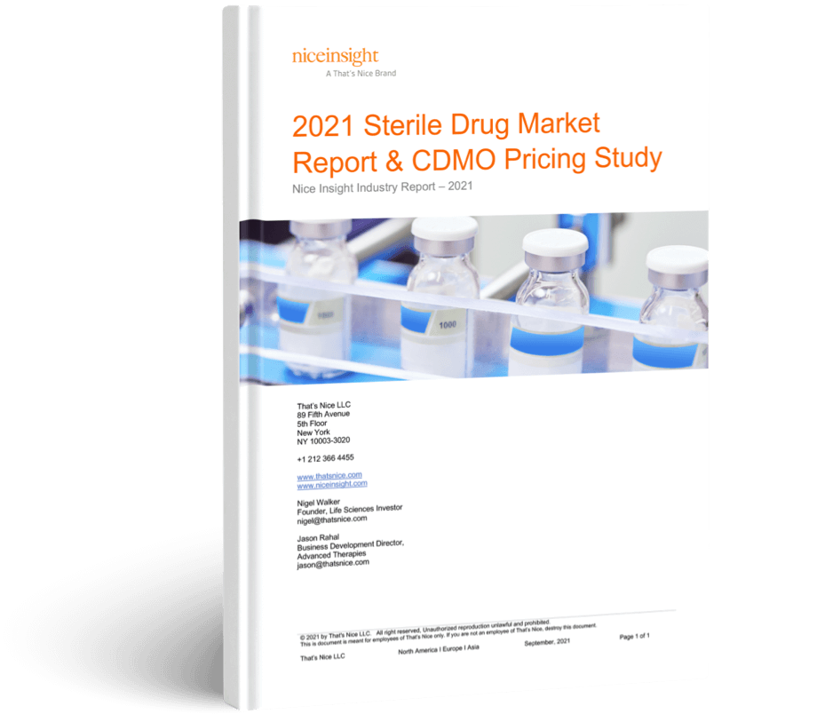 2021 Sterile Drug Product Market Report & CDMO Pricing Study
